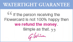 Flowercard Watertight Guarantee